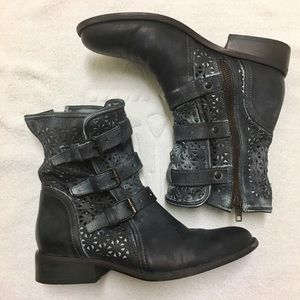 Sbicca Vintage Collection distressed leather boots